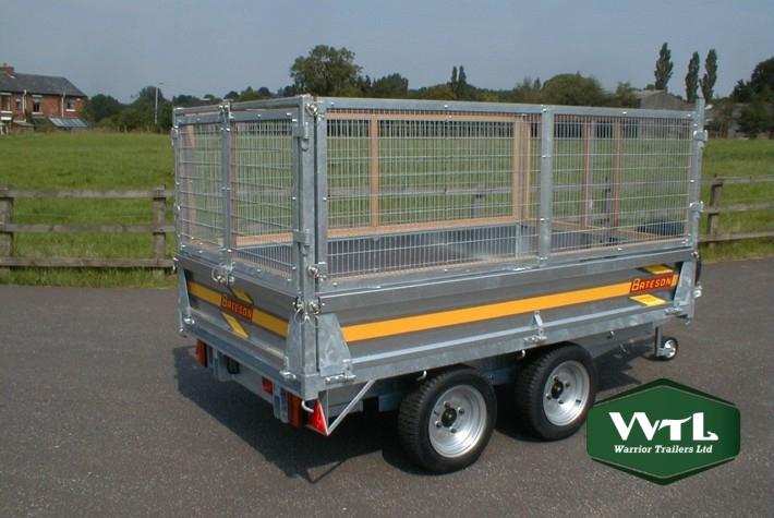 bateson 202h 2 ton hydraulic tipping trailer  u2013 warrior utility trailer brake wiring diagrams