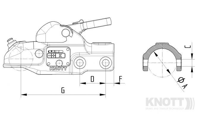 new knott 3500kg cast coupling head  u2013 warrior trailers ltd